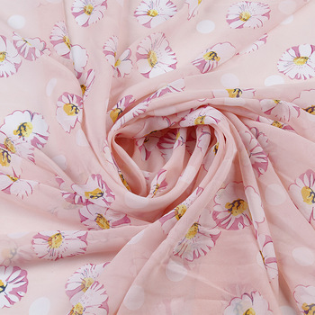Best- selling 100% polyester cheap printed chiffon fabric stocklot
