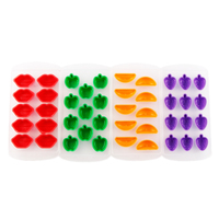 Washable and Reusable Plastic Fruit Shape Cube Molds Ice Cube Tray