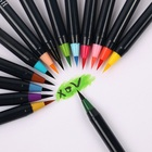 Promotional Watercolor Brush Pen 20 Colors Brush Tip Painting Water Color Brush Pen Set For Kids and Adults