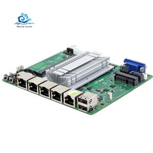 4 Gigabit LAN Firewall pfsense Motherboard with Intel J1900 J1800 processor  VGA USB