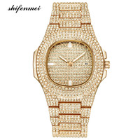 Wholesale hot sale iced out mens full diamond bling bling watch