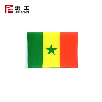 polyester fabric flags , custom Senegal flag country dropshipping