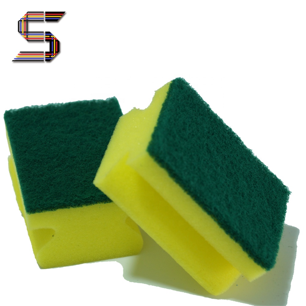 cheap nylon material kitchen cleaning sponge