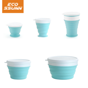 Collapsible Food Grade Silicone Bowls cup with Lids, BPA-Free, Camping, Traveling, Pets, Hiking, Backpacking Bowl