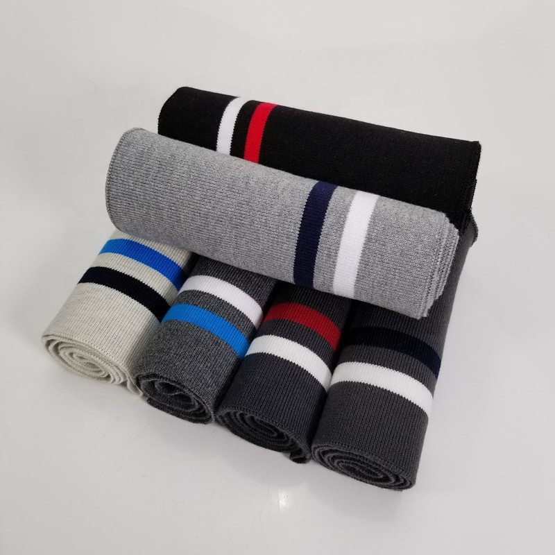 Striped Cotton elastic rib collar trim for Clothing Accessories