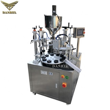 Food Packing Industry Ultrasound Automatic Condensed Milk Tube Filling and Sealing Machine with Heating and Mixing Tank
