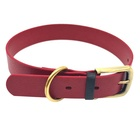 Custom Personalized Diy TPU Plated Luxury Rolled Leather Pet Dog Collar and Leash Set
