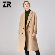 2018 Nieuwe ontwerp double-face vrouwen <span class=keywords><strong>kasjmier</strong></span> top <span class=keywords><strong>jas</strong></span> overjas trenchcoat