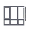 New arrival casement aluminum glass window with gray color
