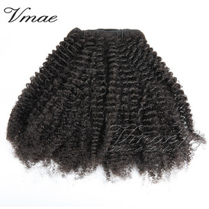 VMAE Unprocessed Cambodian 100g Customized Curl Natural Color 4B 4C Afro Kinky Curly Double Drawn Clips In Human Hair Extensions