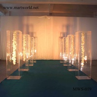 2020 clear acrylic square stand wedding square cube stand pedestal plinths for party display wedding decoration (MWS-019)