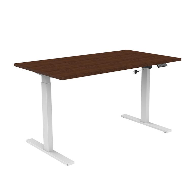 White Electric Sit Stand Desk Frame Workstation Single Motor Ergonomic Standing Height Adjustable Base Computer Desk Frame