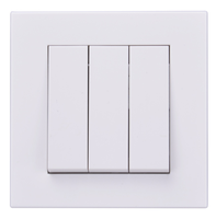 CE certified 86mm 3 gang white panel wall light switch