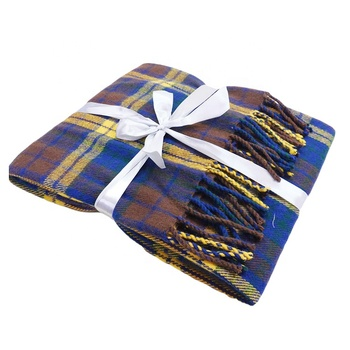 Square plaid blanket China Factory Square Plaid Scarf Printed Wearable Blanket