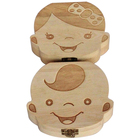 Childhood Memento Printing wooden tooth storage box
