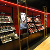 Black theme high end cosmetic shop display counter and fixture built in Shenzhen