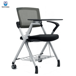 Stacking conference room meeting room training stackable classroom chair with writing pad
