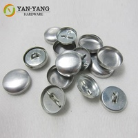 sofa accessories factory supply high quality fabric iron sofa button covering
