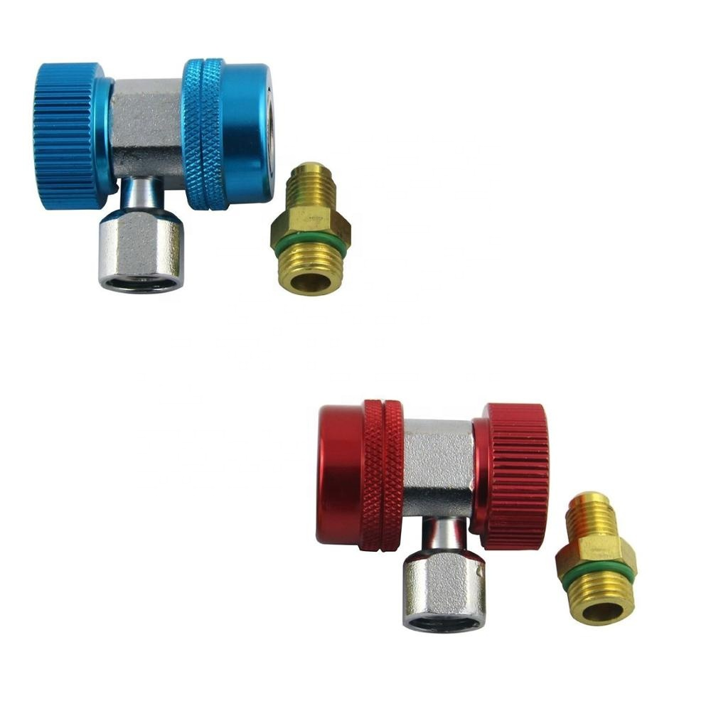 A//C R12-R134a  Adapter Retrofits Fitting 2 Way Male couplling  1//2-16UNF