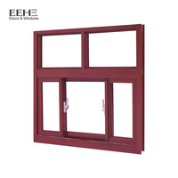 New interior office sliding blind inside stained double glass window for sale