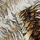 Various tiger/giraffe/leopard/zebra/cow design animal print velboa minky fabric paper print and screen print with S wave