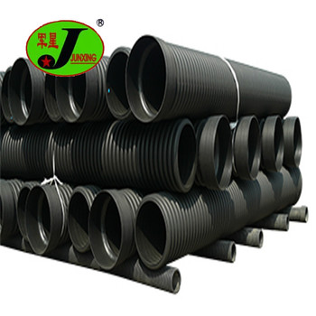 400mm Black HDPE culvert HDPE twin wall corrugated pipes for stormwater