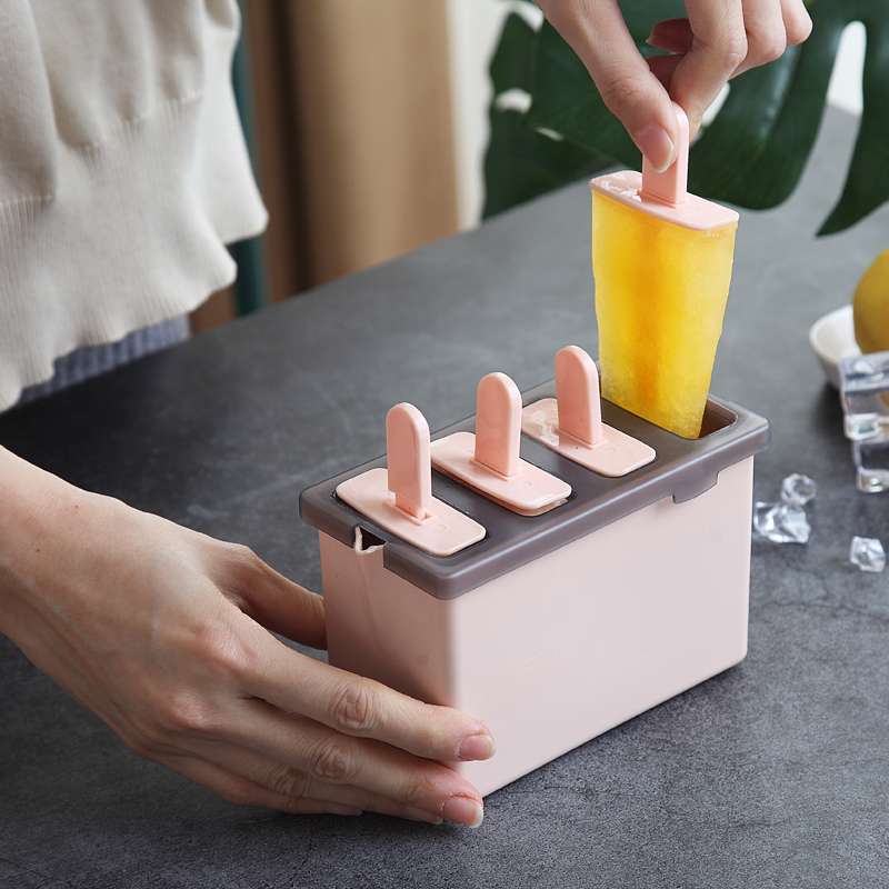 Ice cream maker handmade ice lolly mould kids plastic popsicle mold with sticks