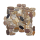 Landscaping Small Flat River Rock Stones Walkway,Sidewalk Black Round Flat River Pebble Stone,Natural Flat River Stone