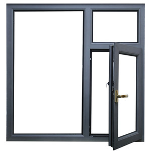 Customized cheap price aluminum casement window for nepal market