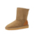 Custom Classic Winter Durable Warm Genuine Leather Comfortable Soft Half Snow Sheepskin Boots for Women Chestnut