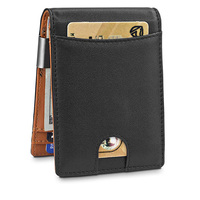 Hot Selling Products Small Men wallets 2019 Vegan leather Rfid Blocking Money Clip Wallet for men leather Front Pocket Metal