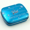 chewing gum mint candy small tin box with hinged lid