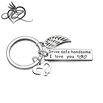Men Fashion Car Key Accessories Stainless Steel Drive Safe Pendant Keyring KeyChain for Husband Boyfriend Gift
