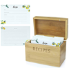 /product-detail/bamboo-recipe-box-set-with-100-4x6-recipe-cards-10-dividers-and-card-holder-cards-made-with-thick-card-stock-perfect-re-62078448744.html