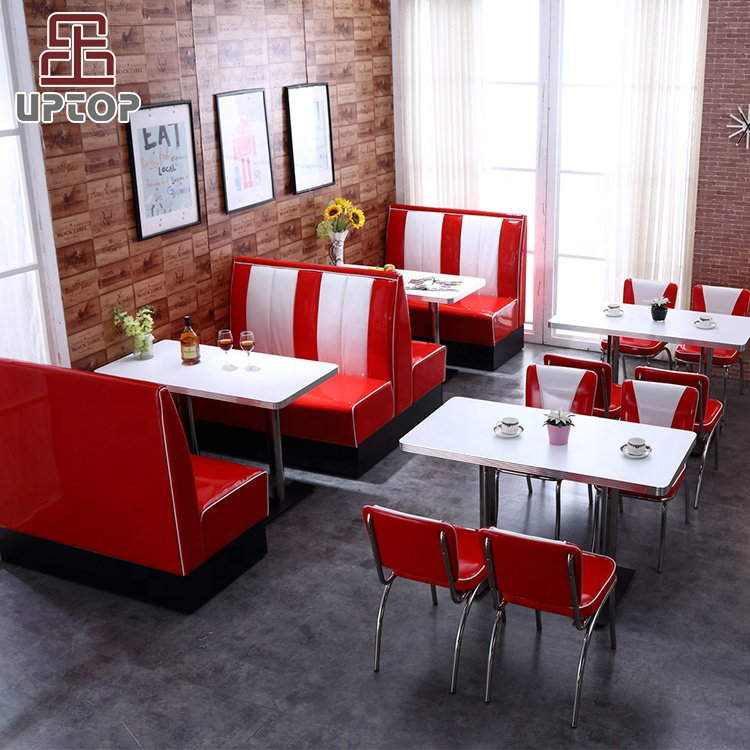 (SP-CT833) 2019 Hot sale uptop commercial red leather booth restaurant <strong>sofa</strong>