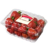 Custom clear fruit punnet disposable PET plastic strawberry clamshell packaging box