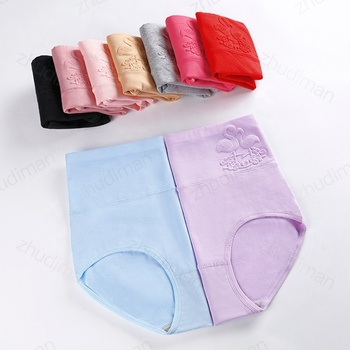 1168 Steel seal High Waist and Large Size Body Shaping Fancy Women Underwear Ladies Cotton Panties