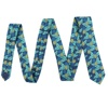 Vivid Colors Premium Handmade Slim Narrow Custom Tropical Pineapple Leaf Pop Art Twill 100% Polyester Printing Necktie