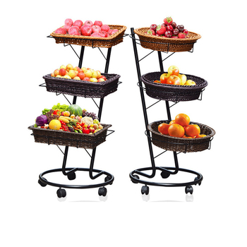 3 Tier Wicker Basket Stand Rack For Display Fruit Wiker Product On Alibaba