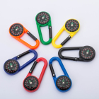 High quality cheap wholesale keychain climbing button compass for outdoor camping hiking