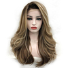 Top quality colorful synthetic blend wigs synthetic lace front wig balayage