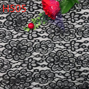 Anti-Static Thick Elastic Nylon Rayon Floral Mesh African Guipure Velvet Lace Fabric for African traditional Apparel Intimates