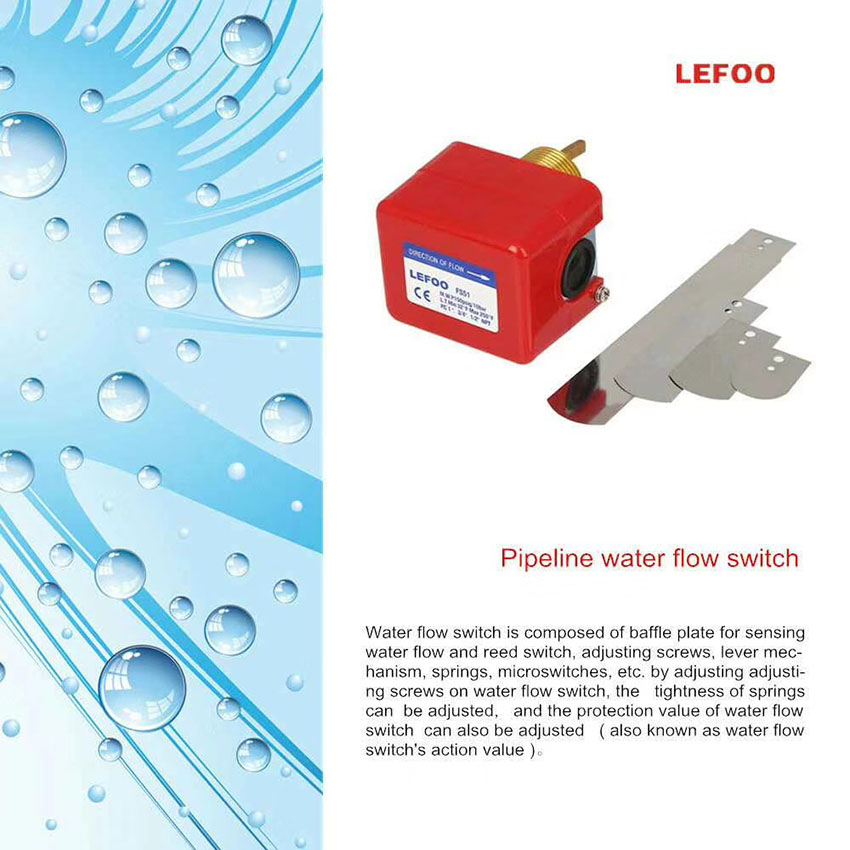 FS51 liquid flow switch protect the freezer system from damage pressure up to 1MPA