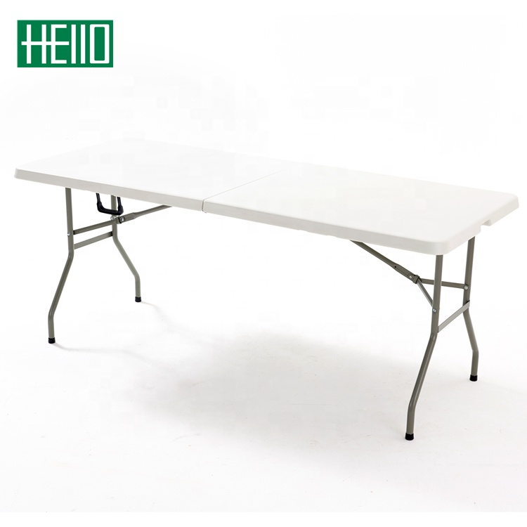 6ft plastic <strong>folding</strong> table <strong>folding</strong> in half table outdoor trestle tables for event