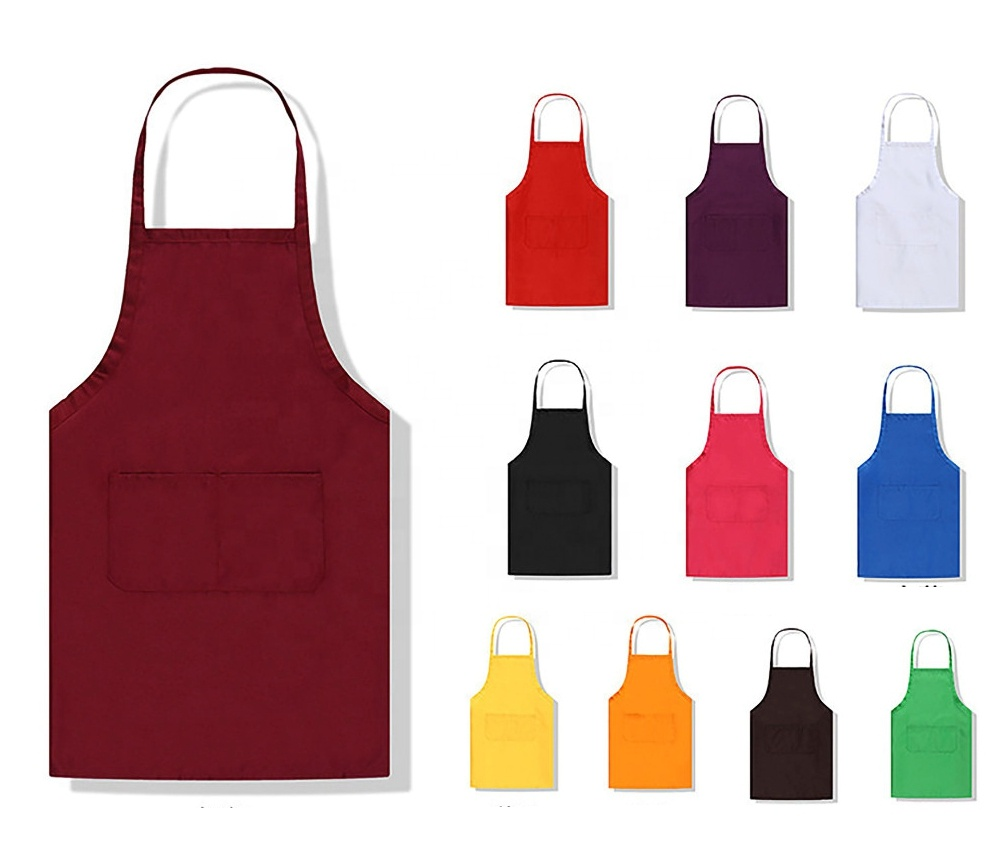 Quality primacy new design pink cooking cotton apron