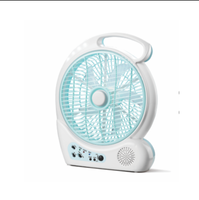 mini fm radio rechargeable battery operated fan with light portable rechargeable fan
