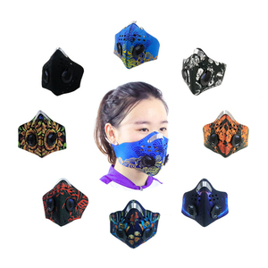 discount neoprene anti dust cycling blue air antipollution mask