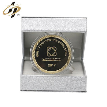 Shuanghua gifts supply top quality  custom stamp 3D Gold  souvenir coins for Elegant gift box packaging