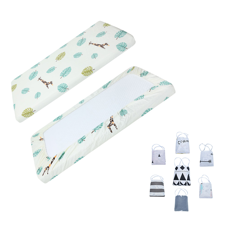 Amazon hot selling woven Cotton baby fitted Crib <strong>Sheets</strong> 2 Pack baby crib <strong>sheet</strong>