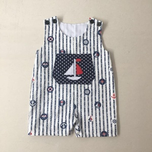 High quality kids clothing suppliers china 4th of July embroidered baby boys romper 2019